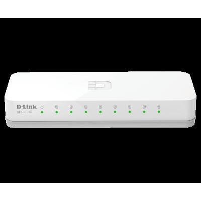 D-Link DES-1008C/B1A Неуправляемый коммутатор с 8 портами 10/100Base-TX и функцией энергосбережения