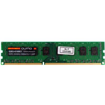 Оперативная память QUMO DDR3 DIMM 4GB (PC3-12800) 1600MHz QUM3U-4G1600K11(R) 256x8chips