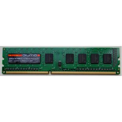 Оперативная память QUMO DDR3 DIMM 4GB (PC3-12800) 1600MHz QUM3U-4G1600C(N)11L 1.35V