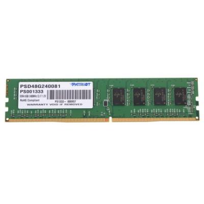 Оперативная память  Patriot DDR4 DIMM 8GB PSD48G240081 PC4-19200, 2400MHz