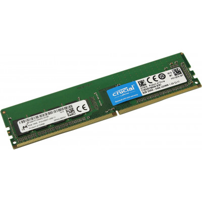 Оперативная память  Crucial DDR4 DIMM 8GB CT8G4DFS824A PC4-19200, 2400MHz, SRx8