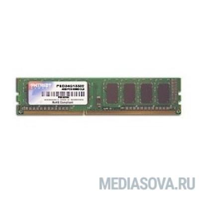 Оперативная память Patriot DDR3 DIMM 4GB (PC3-10600) 1333MHz PSD34G13332