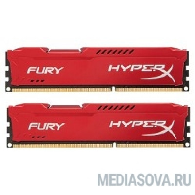 Оперативная память Kingston DDR3 DIMM 8GB (PC3-15000) 1866MHz Kit (2 x 4GB)  HX318C10FRK2/8 HyperX Fury Red Series CL10