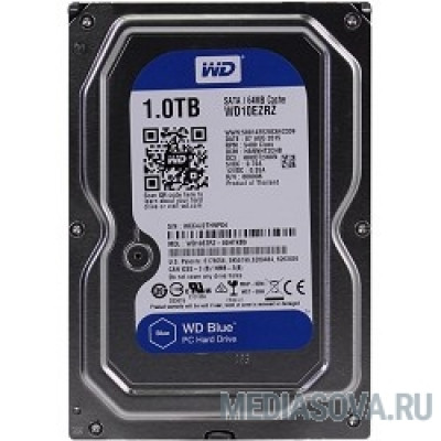 Жесткий диск 1TB WD Blue (WD10EZRZ) Serial ATA III, 5400 rpm, 64Mb buffer