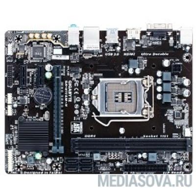 Материнская плата Gigabyte GA-H110M-H RTL  S1151, iH110, DDR4, PCI-E, SATA 6Gb/s, ALC887 8ch, GBL, USB3.0, D-SUB, HDMI, mATX