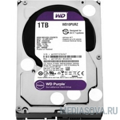 Жесткий диск 1TB WD Purple (WD10PURZ) Serial ATA III, 5400- rpm, 64Mb, 3.5