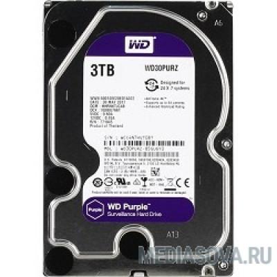 Жесткий диск 3TB WD Purple (WD30PURZ) Serial ATA III, 5400- rpm, 64Mb, 3.5