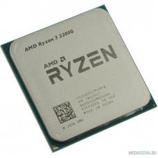 CPU AMD Ryzen 3 2200G OEM 3.5-3.7GHz, 4MB, 65W, AM4, RX Vega Graphics
