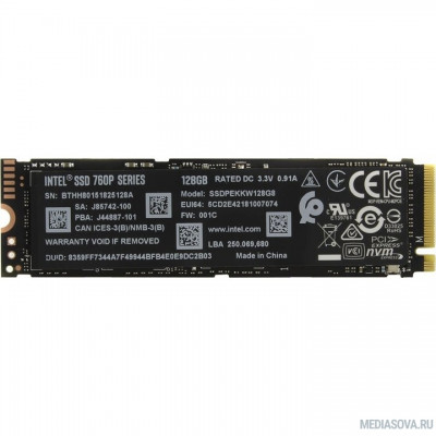 Intel SSD 128Gb M.2 760P Series SSDPEKKW128G8XT