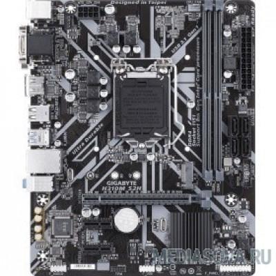 Материнская плата Gigabyte H310M S2H (v.2.0) RTL LGA1151 <H310> PCI-E Dsub+DVI+HDMI GbLAN  SATA MicroATX 2DDR4