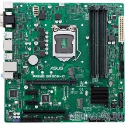 Материнская плата ASUS PRIME B360M-C RTL [90MB0W80-M0EAYM] LGA1151, B360, PCI-E Dsub+HDMI+DP GbLAN SATA MicroATX 4DDR4