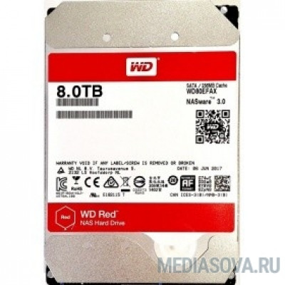 Жесткий диск 8TB WD Red WD80EFAX) Serial ATA III, 5400- rpm, 256Mb, 3.5