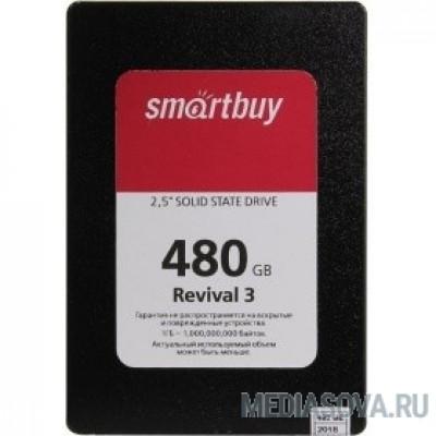 Smartbuy SSD 480Gb Revival 3 SB480GB-RVVL3-25SAT3 SATA3.0, 7mm