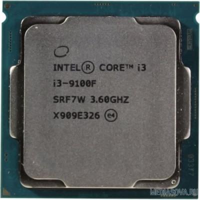 Процессор CPU Intel Core i3-9100F Coffee Lake BOX 3.60Ггц, 6МБ, Socket 1151v2