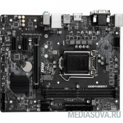 Материнская плата MSI H310M PRO-M2 PLUS  RTL   Intel H310 LGA1151 2xDDR4-2666 1xPCIEX16 2xPCIEX1 4xSATA 1xM.2 2xUSB3.1 4xUSB2.0 VGA DVI HDMI mATX