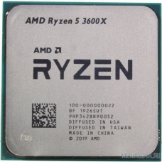 CPU AMD Ryzen 5 3600X OEM 3.8GHz up to 4.4GHz/6x512Kb+32Mb, 6C/12T, Matisse, 7nm, 95W, unlocked, AM4