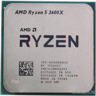 Процессор CPU AMD Ryzen 5 3600X OEM 3.8GHz up to 4.4GHz/6x512Kb+32Mb, 6C/12T, Matisse, 7nm, 95W, unlocked, AM4
