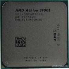 CPU AMD Athlon 240GE AM4 OEM 3.5 GHz/2core/1+4Mb/SVGA RADEON Vega 3/35W/Socket AM4