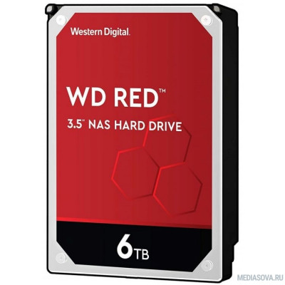 Жесткий диск 6TB WD Red (WD60EFAX) Serial ATA III, 5400- rpm,256Mb, 3.5