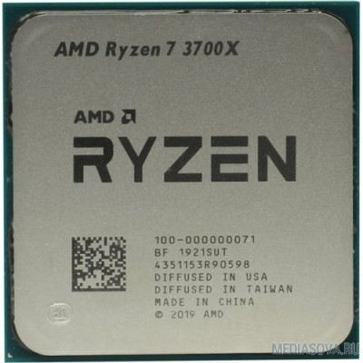 Процессор CPU AMD Ryzen 7 3700X OEM 3.6GHz up to 4.4GHz/8x512Kb+32Mb, 8C/16T, Matisse, 7nm, 65W, unlocked, AM4