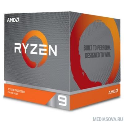 Процессор CPU AMD Ryzen 9 3900X BOX 3.8GHz up to 4.6GHz/12x512Kb+64Mb, 12C/24T, Matisse, 7nm, 105W, unlocked, AM4
