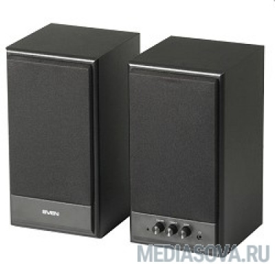 SVEN SPS-702, черная кожа 2.0, 2х20 Вт