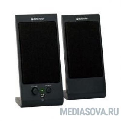 Defender SPK 165 /170 черные 2.0, 2х2 W, разъем для наушников, USB [65165]