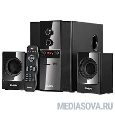 SVEN MS-1820, черный RMS, 18Вт+2х11Вт, FM-тюнер, USB/SD, дисплей, ПДУ