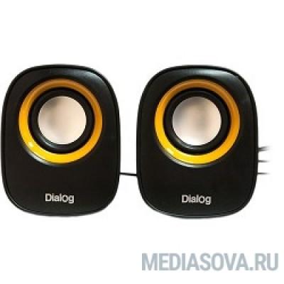 Dialog Colibri AC-06UP BLACK акустические колонки 2.0, 6W RMS, питание от USB