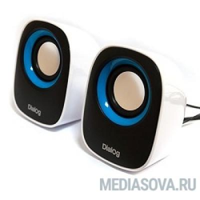 Dialog Colibri AC-06UP BLACK-WHITE акустические колонки 2.0, 6W RMS, питание от USB