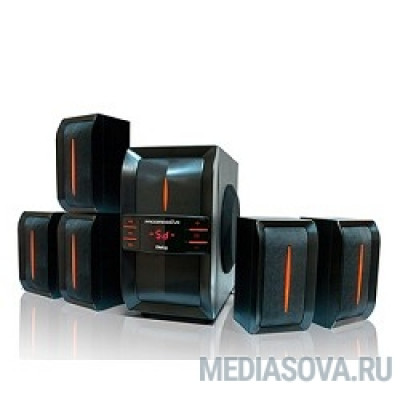 Dialog Progressive AP-540 BLACK акустические колонки 5.1, 40W+5*12W RMS,  USB+SD reader