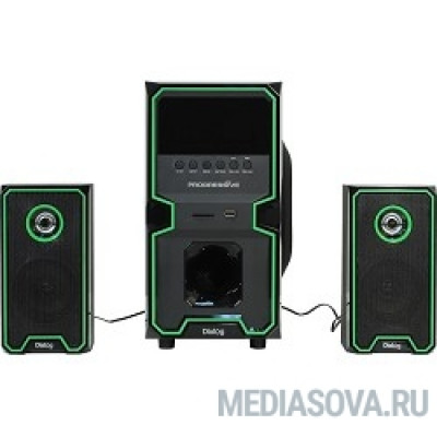 Dialog Progressive AP-222B BLACK - акустические колонки 2.1, 30W+2*10W RMS, Bluetooth, USB+SD reader