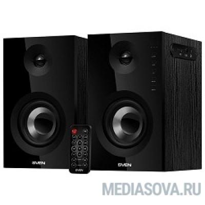 SVEN SPS-721 чёрный акустическая система 2.0, мощность 2x25 Вт (RMS), USD/SD, пульт ДУ, Bluetooth