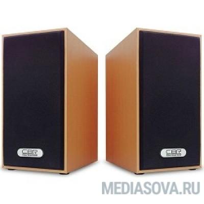 CBR CMS 635 Brown, Акустическая система 2.0, питание USB, 2х3 Вт (6 Вт RMS), материал корпуса MDF, 3.5 мм линейный стереовход, регул. громк., длина кабеля 1 м, цвет светло-коричневый