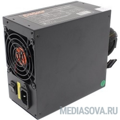 Блок питания Exegate EX174459RUS Блок питания 600W Exegate <RM-600ADS> APFC,2х8 cm fan, 20+4pin/(4+4)pin , 2xPCI-E , 9xSATA