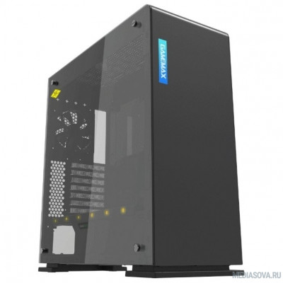 GameMax Корпус [9909(909) Vega black Perspex] (Midi Tower, ATX, black+ Perspex, RGB LED) (без БП)
