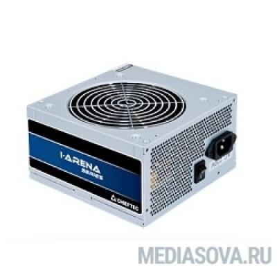 Блок питания Chieftec 400W OEM (GPB-400S) ATX 2.3, 80 PLUS, 80% эфф, Active PFC, 120mm fan, Silver