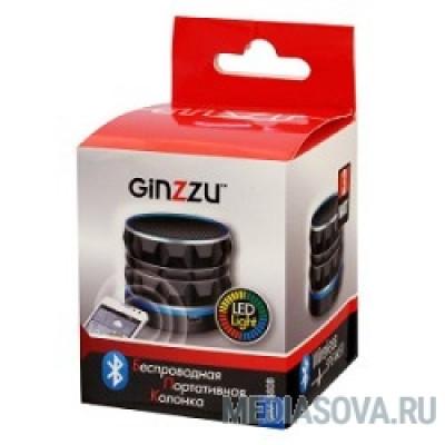 Ginzzu GM-880B (3Вт, 100Гц-20КГц, 300мАч, AUX, microSD, USB-flash, FM-радио, светодиодная подсветка музыкального сопровождения, цвет: черный)