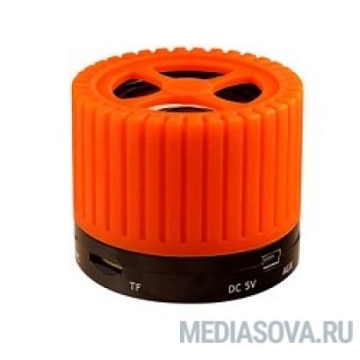 Ginzzu GM-988O, BT-Колонка 3W/TFcard/AUX/FM, оранжевый