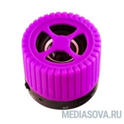 Ginzzu GM-988V, BT-Колонка 3W/TFcard/AUX/FM, фиолетовый