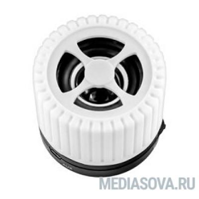 Ginzzu GM-988W, BT-Колонка 3W/TFcard/AUX/FM, белый