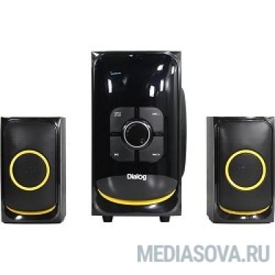 Dialog Progressive AP-208 BLACK - акустические колонки 2.1, 30W+2*15W RMS,Bluetooth,FM,USB+SD reader