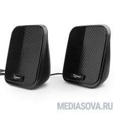 Акустич. система 2.0 Gembird SPK-100, черный, 6 Вт, рег. громкости, USB-питание