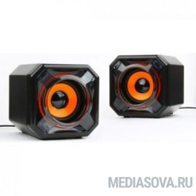 Акустич. система 2.0 Gembird SPK-405, пассив. излучатели, черный, 5 Вт, рег. громкости USB-питание