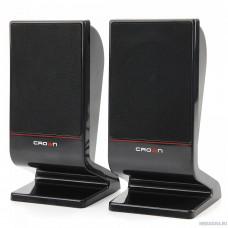 CROWN CMS-601 (USB, 6W; управление громкостью, разъём для наушников, кнопка включения, Длина кабеля между колонками 1м;Длина аудио-кабеля и питания 2м.)