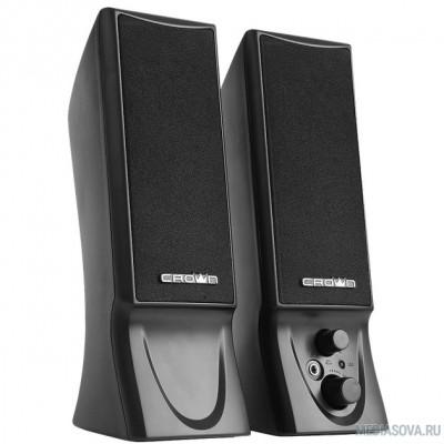 CROWN CMS-602 (USB, 6W; управление громкостью, разъём для наушников, кнопка включения, Длина кабеля между колонками 1м;Длина аудио-кабеля и питания 2м.)