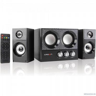 Акустическая система 2.1 CROWN CMBS-161 (МДФ, Bluetooth, 8W+4W*2=16W; приёмник FM; картридер; интерфейс USB; IR пульт)