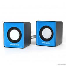 Гарнизон GSP-100, синий/черный, 2 Вт, материал- пластик, USB - питание