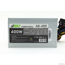 AirMax A8-400W Блок питания 400W ATX (24+4+6пин, 80mm (SCP)\(OVP)\(OCP)\(UVP)\ATX 12V v.2.3)