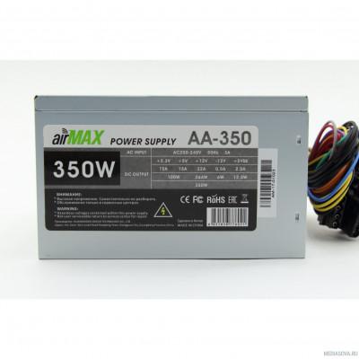 Блок питания AirMax AA-350W Блок питания 350W ATX (24+4+6пин, 120mm (SCP)\(OVP)\(OCP)\(UVP)\ATX 12V v.2.3)